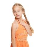 Beautiful young girl dreaming Stock Photos