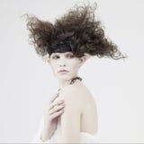 Beautiful young girl elf Stock Image