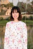 Beautiful Young girl fashion enjoy life portrait smile stock photo