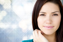 Beautiful young girl with fresh skin Stock Photos
