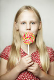 Beautiful young girl, funny face Royalty Free Stock Photos