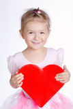 Beautiful young girl with heart Stock Photos