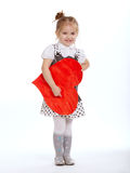 Beautiful young girl with heart Royalty Free Stock Photography