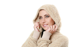 Beautiful young girl in a hood Stock Photo