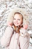 Beautiful young girl in a hood Stock Image