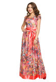 A beautiful young girl in a long dress posing Royalty Free Stock Image