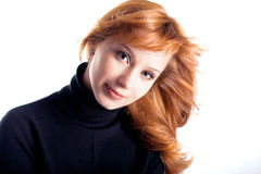 The beautiful young girl with long hair Royalty Free Stock Photo
