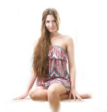 Beautiful young girl with long hair Royalty Free Stock Photos