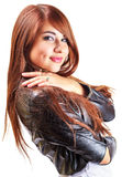 Beautiful young girl with long hair Royalty Free Stock Photography