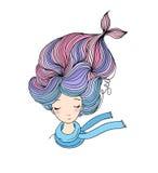 Beautiful young girl mermaid. Sea theme. Royalty Free Stock Photography