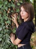 Beautiful young girl in nature Stock Photos