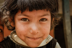Beautiful young girl in Nepal Royalty Free Stock Photos