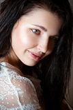Beautiful young girl with no make-up Stock Photography
