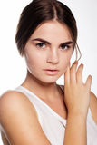 Beautiful young girl with nude makeup Royalty Free Stock Photography