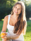 Beautiful young girl with open smile Royalty Free Stock Images