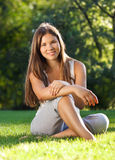 Beautiful young girl with open smile Royalty Free Stock Photography