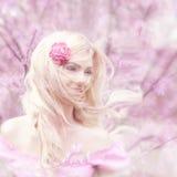 Beautiful young girl outdoors Stock Image