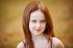A beautiful young girl outdoors Royalty Free Stock Images