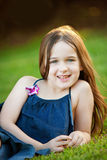 A beautiful young girl outdoors Stock Image