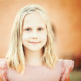 Beautiful young girl outdoors Royalty Free Stock Images