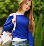 Beautiful young girl outdoors Royalty Free Stock Photo