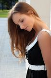 Beautiful young girl outdoors in summer Stock Images