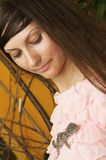 Beautiful young girl in park Royalty Free Stock Photography