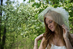 Beautiful young girl in park Royalty Free Stock Images