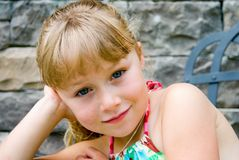 Beautiful Young Girl/Portrait Stock Photo