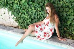 Beautiful young girl posing Stock Image