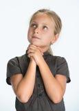 Beautiful young girl praying Stock Photography
