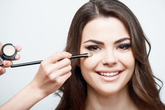 Beautiful young girl is preparing for date Stock Images
