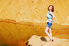 Beautiful young girl with red hair. Picture of a Beautiful young girl with red hair Royalty Free Stock Image