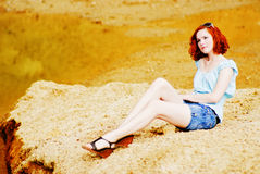Beautiful young girl with red hair. Picture of a Beautiful young girl with red hair Stock Images