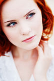 Beautiful young girl with red hair Stock Photo