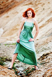 Beautiful young girl with red hair. Picture of a Beautiful young girl with red hair Stock Photography