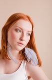 Beautiful young girl with red hair Royalty Free Stock Photo