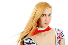 Beautiful young girl in red neckerchiefs Stock Image