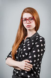 Beautiful young girl with redhead Stock Photography
