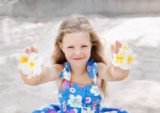 Beautiful young girl relaxing near the sea Royalty Free Stock Photography