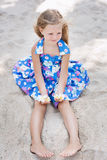 Beautiful young girl relaxing near the sea Stock Image