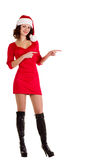 Beautiful young girl in Santa Claus clothes Stock Photo
