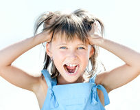 Beautiful young girl with shocked expression Stock Image