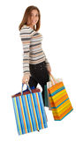 Beautiful young girl with shopping Stock Photos