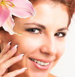 Beautiful young Girl.Skin care face stock photography