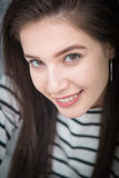 Beautiful young girl smiling, looking happy Royalty Free Stock Images