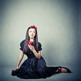 beautiful young girl, in snow white costume Stock Image