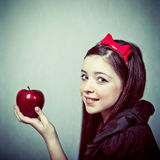 Beautiful young girl, in snow white costume Stock Photos