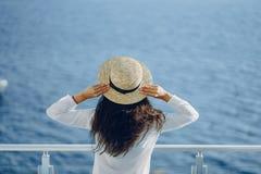 Girl near sea royalty free stock photography