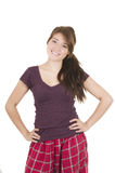 Beautiful young girl student teenager wearing Stock Photo